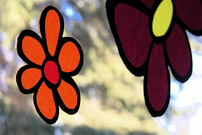 Stained Glass Spring Flowers
